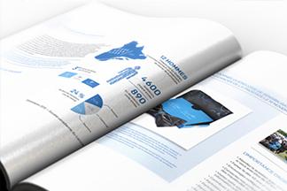 Page ouverte du rapport annuel de PROCURE