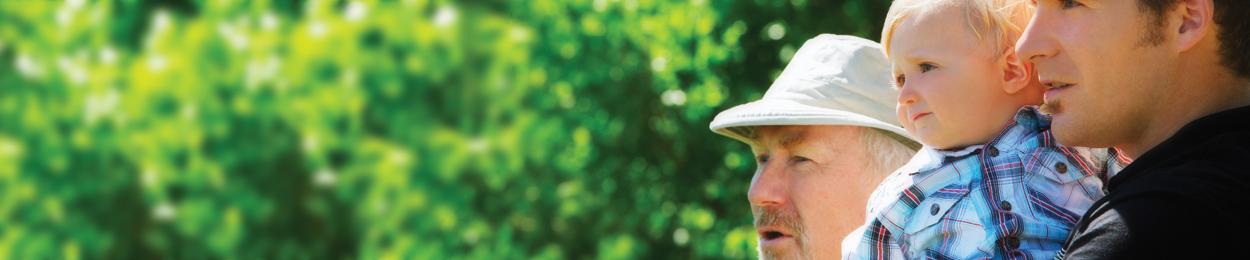 Trois générations représentatives de la mission de PROCURE dédié au cancer de la prostate
