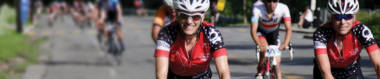 Femmes cycliste au Tour du Courage PROCURE représentantes des Femmes de courage
