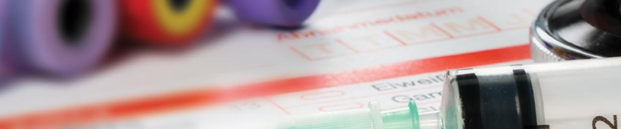 Papier de laboratoire et ustensiles pour le test sanguin APS ou PSA